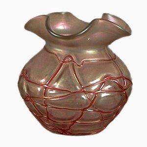 Vaso vintage Art Nouveau in vetro di Palme König, Germania