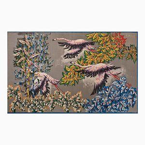 Les Flamants Roses Wandteppich von Robert Debiève für Corot, 1950er