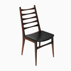 Skandinavischer Stuhl aus Skai & Holz