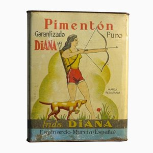 Large Spanish Tin Advertisment for Diana Pimenton