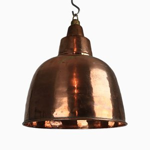 Verkupferte Vintage Messing Lampe