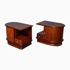 Italian Art Deco Night Stands, 1930, Set of 2