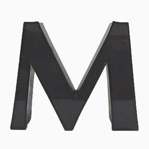 Letra M decorativa, años 70
