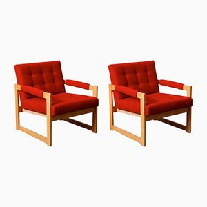 Hungarian Ash Armchairs, 1960, Set of 2