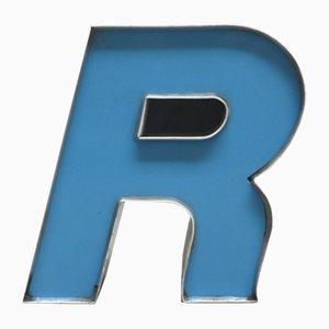 Lettera R decorativa, anni '70