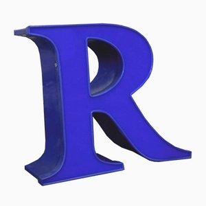 Blue Decorative Letter R, 1970s