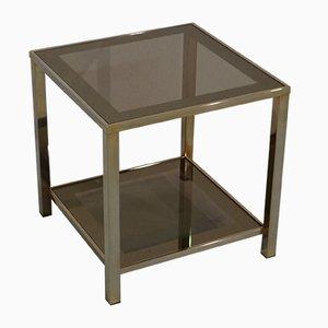 Mesa auxiliar vintage con baño de oro de 23 quilates de Belgochrom