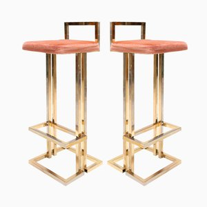 Brass Stools by Maison Jansen, 1980s, Set of 2