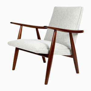 GE-260 Teak Lounge Chair by Hans J. Wegner for Getama, 1950s