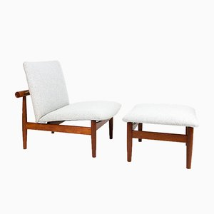 Model 137 Japan Chair & Ottoman by Finn Juhl for France & Son
