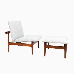 Modell 137 Japan Stuhl & Ottomane von Finn Juhl für France & Son