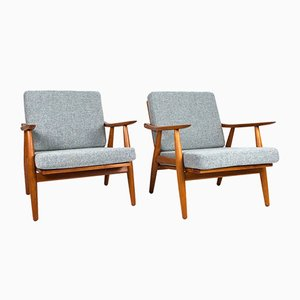 GE-270 Lounge Chairs by Hans J. Wegner for Getama, 1950s, Set of 2