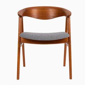 Chaise Compass Chair en Teck par Erik Kirkegaard pour Hong Stolefabrik, Danemark, 1960s