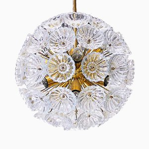 German Starburst Sputnik Chandelier from VEB Leuchten, 1960s