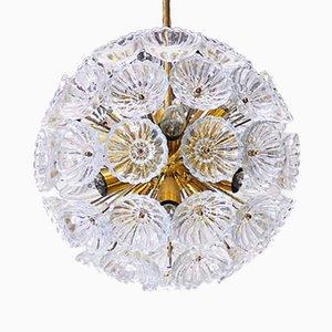 Lámpara de araña Sputnik alemana en forma de estrella de VEB Leuchten, años 60