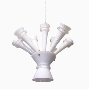Trumpet Ceiling Light with Handblown Glass, 1960s