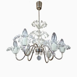 Austrian Crystal Chandelier by Emil Stejnar for Rupert Nikoll, 1950s