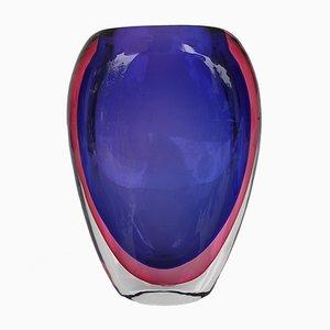 Italian Sommerso Vase by Flavio Poli for Seguso, 1960s