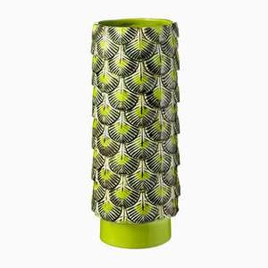 Plumage Hand-Decorated Multi-Colored Vase by Cristina Celestino for BottegaNove