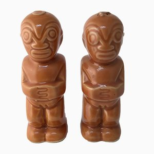 Vintage Cermaic Salt & Pepper Shakers from Trader Vics, 1960s
