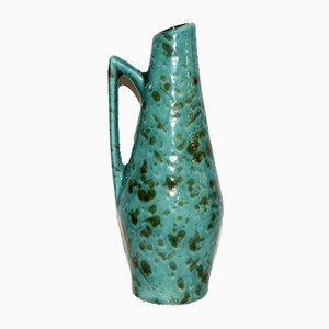 Vintage German Aquamarine Enameled Vase, 1970s