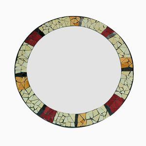 Mid-Century Mosaic Circular Mirror, 1950s
