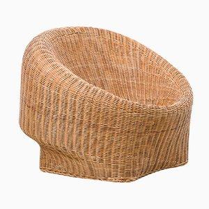 Niederländischer Sessel aus Korbgeflecht, 1950er