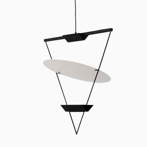 Inverted Triangle Lamp by Mario Botta for Artemide, 1985