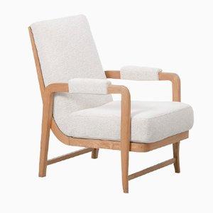 Französischer Art Deco Sessel aus Bugholz, 1940er