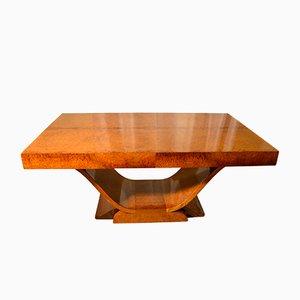 Französischer Art Deco Ambonya Furnier Tisch, 1920er