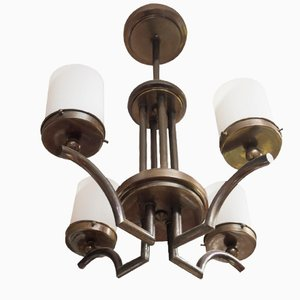 Czech Functionalist Chandelier, 1930s