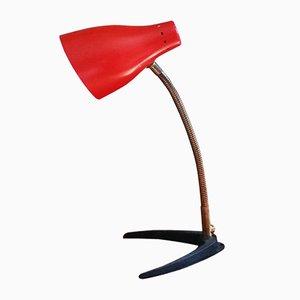 Lámpara de escritorio vintage en rojo