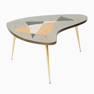 Organic Brass Coffee Table with Mosaic, 1955