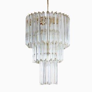 Italian Murano Glass Chandelier by Paolo Venini for Venini, 1960s