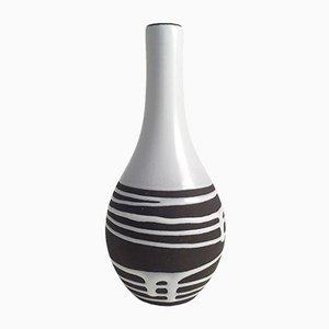 Vase in Braun & Weiß von Schlossberg Roulette