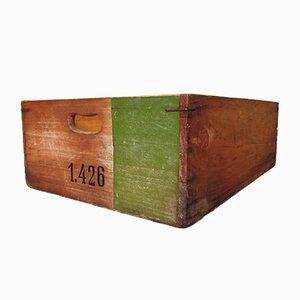 Industrielles Holz Ablagefach No. 1426, 1950er