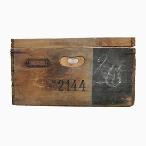 Industrial Wooden Storage Tray No. 2144, 1950s