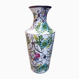 Large Floral Porcelain Vase from Bohemia JN Barcelona, 1970s