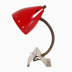 Red Clamp Lamp from Hala Zeist, 1950s