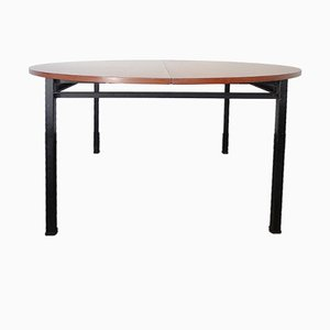 French Round Dining Table by Claude Vassal for Alveole, 1950s