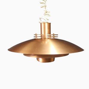 Dänische Lampe aus Kupfer, 1970er
