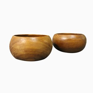 Small Rosewood Bowls, 1960s, Set of 2