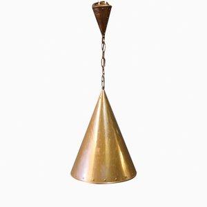 Lámpara danesa vintage de cobre, años 70