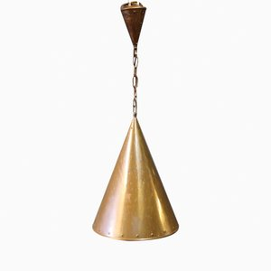 Vintage Danish Copper Lamp, 1970s