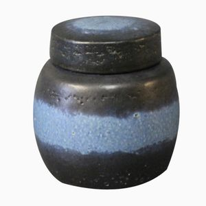 Ceramic Jar with Lid by Axel Brüel for Nymølle, 1980s