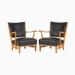 Vintage Lounge Chairs by Elias Svedberg for Sparreholms Snickerifabrik, 1939, Set of 2
