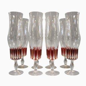 Flutes à Champagne Vintage, 1960s, Set de 8