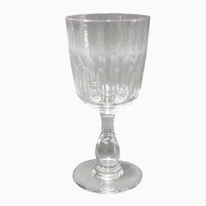 Antikes Weinglas mit Geschliffenem Muster von Holmegaard