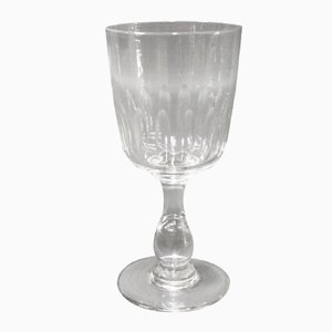 Antique Wine Glass with Polished Patterns from Holmegaard