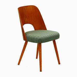 Eichenholz Stuhl von Oswald Haerdtl für Ton, 1950er
